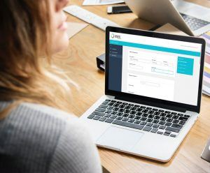 woman using GroupPay for event booking.